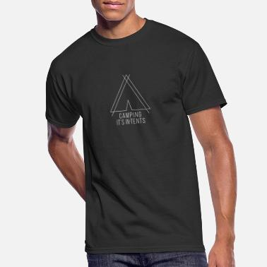 camping is in-tents white - Men's 50/50 T-Shirt