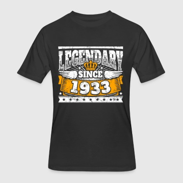Legend Birthday: Legendary since 1933 birth year - Men's 50/50 T-Shirt