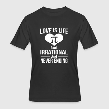 Happy Pi Day 2018 Love Is Like Never Ending Shirt - Men's 50/50 T-Shirt