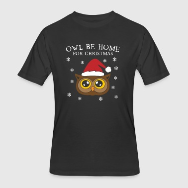 Owl Be Home For Christmas - Men's 50/50 T-Shirt