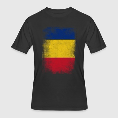 Romania Flag Proud Romanian Vintage Distressed Shi - Men's 50/50 T-Shirt