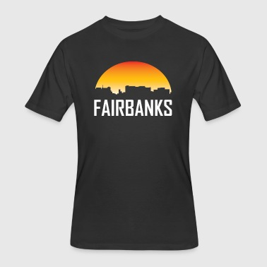 Fairbanks Alaska Sunset Skyline - Men's 50/50 T-Shirt