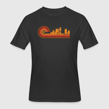 Retro Style Southfield Michigan Skyline - Men's 50/50 T-Shirt