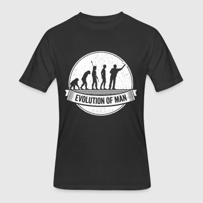 Funny Dart: Graphic Darts Evolution Darts Shirt - Men's 50/50 T-Shirt