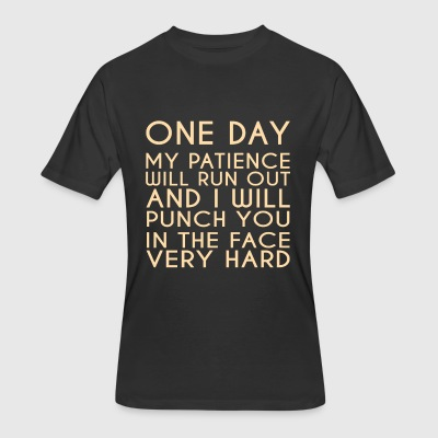 ONE DAY Printed on Skreened T Shirt - Men's 50/50 T-Shirt