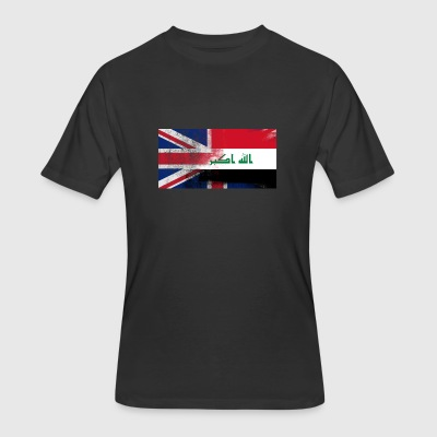 British Iraqi Half Iraq Half UK Flag - Men's 50/50 T-Shirt
