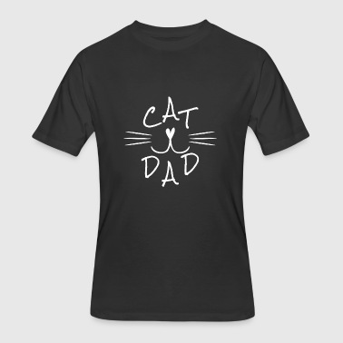 Cat dad - cat father - cat daddy - cat lover -gift - Men's 50/50 T-Shirt
