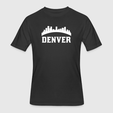 Vintage Style Skyline Of Denver CO - Men's 50/50 T-Shirt