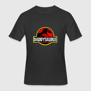 Daddysaurus T-Rex - Fathers Day Gifts - Men's 50/50 T-Shirt