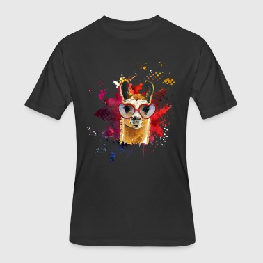 Llama Watercolor Tee Shirt - Men's 50/50 T-Shirt