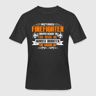 Retired Firefighter Shirts - Men's 50/50 T-Shirt