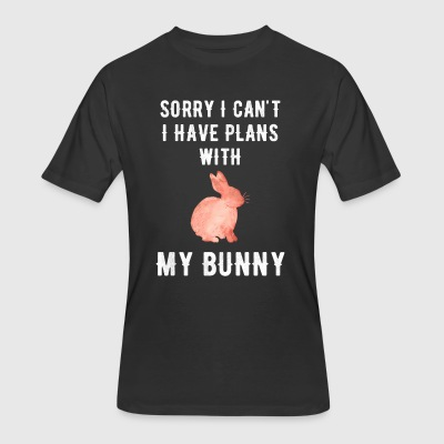 Sorry I can't I have plans with my bunny - Men's 50/50 T-Shirt