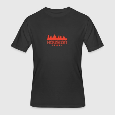 Retro Houston Skyline - Men's 50/50 T-Shirt