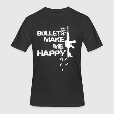 BULLETS MAKE ME HAPPY - Men's 50/50 T-Shirt