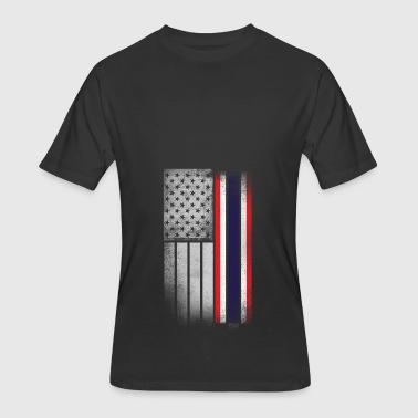 Thai American Flag - Men's 50/50 T-Shirt