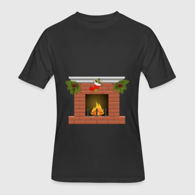 Christmas Fireplace PNG Clipart 688 - Men's 50/50 T-Shirt