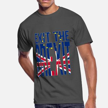 Love Theresa May Exit the Brexit Union Jack Demonstration Europe - Men's 50/50 T-Shirt