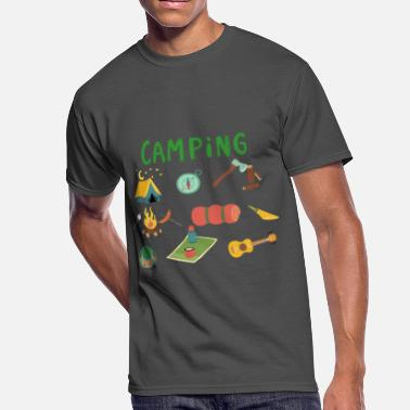 To Camp Camping Camp - Men's 50/50 T-Shirt