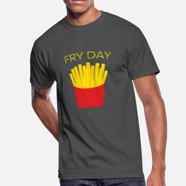 Fry Day FRY DAY French Fries TGIF Friday Weekend Funny - Men's 50/50 T-Shirt