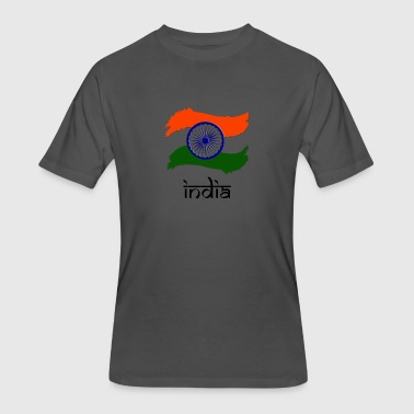 Indian Flag - Men's 50/50 T-Shirt