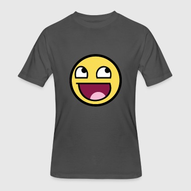 Awesome Smile Awesome Smile - Men's 50/50 T-Shirt