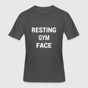 Funny Crossfit Family RESTING GYM FACE WHITE - Men's 50/50 T-Shirt