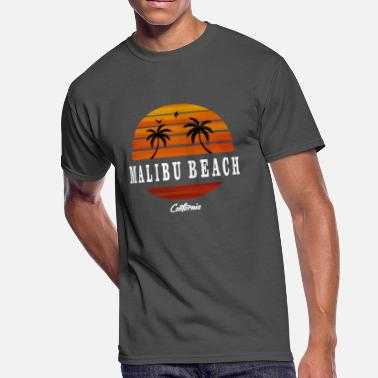 Malibu California Malibu Beach California white - Men's 50/50 T-Shirt