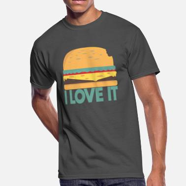 Love To Cook I LOVE IT BURGER - Men's 50/50 T-Shirt