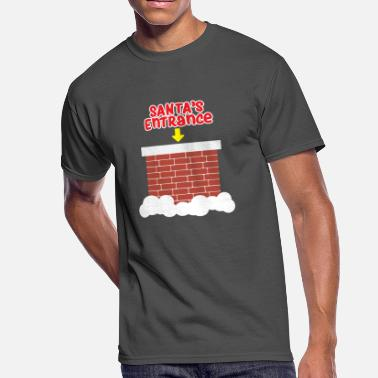 Chimney Sweep Santa's entrance is the chimney - Men's 50/50 T-Shirt