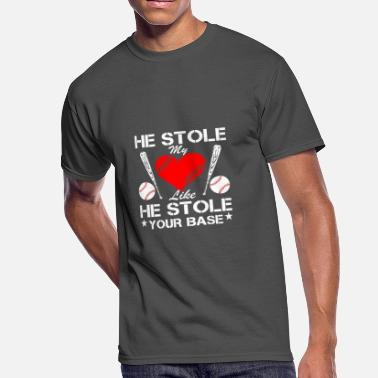 He Stole My Heart He Stole Heart Stole Your Base Baseball - Men's 50/50 T-Shirt