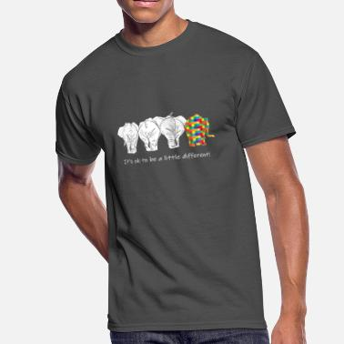 Different It_s OK To Be A Little Different Autism Elephant - Men's 50/50 T-Shirt