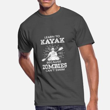 Lake Kayaking Kayak - Men's 50/50 T-Shirt