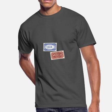 Philatelist Funny Leck Mich Vintage Stamps - Men's 50/50 T-Shirt