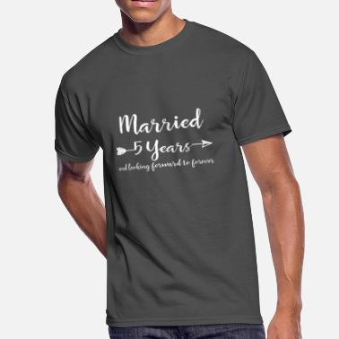5th Wedding Anniversary Couple 5th Wedding Anniversary Gifts for Him Her Couples T-Shirt - Men's 50/50 T-Shirt