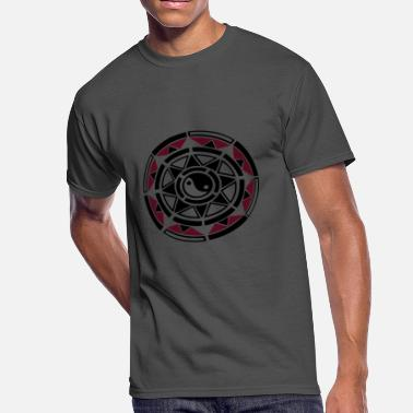 Yin Yang Triangle Sun, star, yin and yang, Indian Haida Style. - Men's 50/50 T-Shirt
