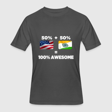 Half India Half American Half Indian Half American Totally Awesome - Men's 50/50 T-Shirt