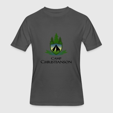 Classic Camp C Logo - Men's 50/50 T-Shirt