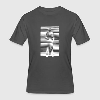 Banksy Prisoner Barcode - Men's 50/50 T-Shirt