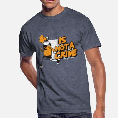 Funny Crime Is Not Crime Funny - Men's 50/50 T-Shirt