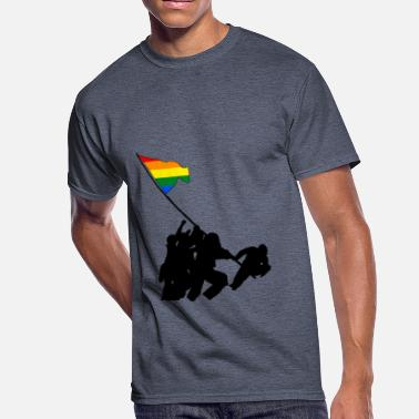 Raising the Flag on Pride - Men's 50/50 T-Shirt