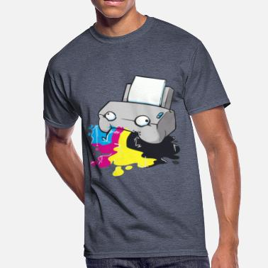 printer - Men's 50/50 T-Shirt