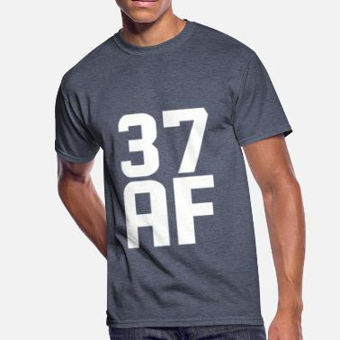 37 Years Old Birthday 37 AF Years Old - Men's 50/50 T-Shirt