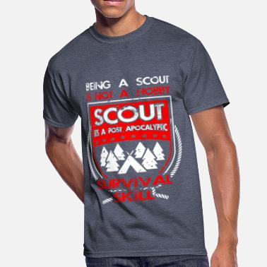 Scouting Skills Being A Scout Is Post Apocalyptic Survival Skill - Men's 50/50 T-Shirt