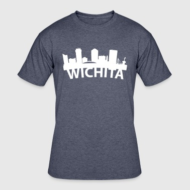 Wichita Flag Arc Skyline Of Wichita KS - Men's 50/50 T-Shirt