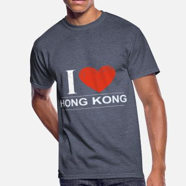 I Love Hong Kong I Love Hong Kong - Men's 50/50 T-Shirt