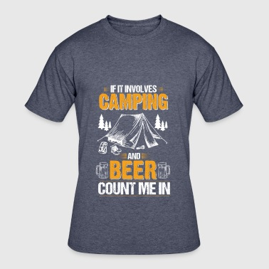 Camping and Beer Funny - Men's 50/50 T-Shirt
