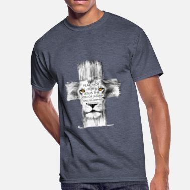 Cross Lion Cross jesus - Men's 50/50 T-Shirt