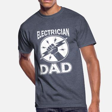 Fathers Day Dad Electrician Electrician Dad T Shirt For Fathers Day GIft - Men's 50/50 T-Shirt