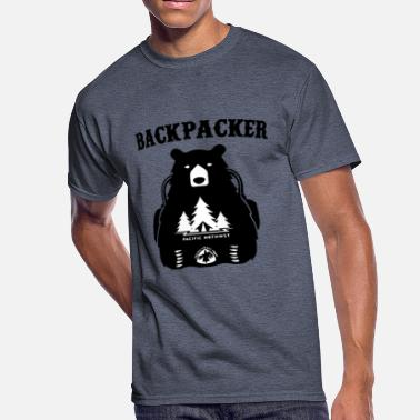 Pacific Sports Backpacker T Shirt Pacific Crest Trail Funny - Men's 50/50 T-Shirt
