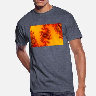 Intricate Colorful Fire Fractal with intricate swirls - Men's 50/50 T-Shirt